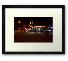Popular Chicago hot dog place one night Framed Print
