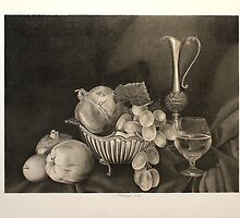 Stilllife with silver plate by Dietrich Moravec