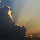 Sunset behind the Clouds by Susan Blevins