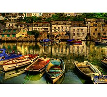 High Tide At Polperro Photographic Print
