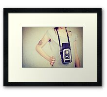 Vintage camera Framed Print