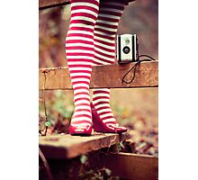 Socks and Camera Photographic Print