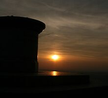 The Beacon at Sunset by Sue Tyler