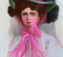 Lady Kiefer in a Pink Hat 1908 by suzannem73