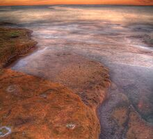 HDR  rocks at Coogee by donnnnnny