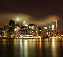 Lower Manhattan Along The East River - NYC  by cvrestan