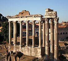 Remains of the Temple of Vespasian & the Temple of Saturn ~ Rome/Italy  by hjaynefoster