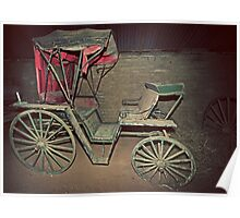 Rustic, Red, Renovation Required, Buggy Poster