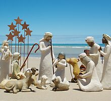 Nativity scene @ the beach by carolynpyatt