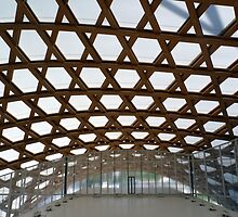 Pompidou Metz: A balcony under the roof by bubblehex08
