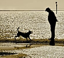 Man with Dog by Stephen Mitchell