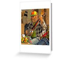 San Francisco Street Musician with Banjo  Greeting Card
