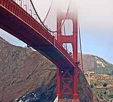Golden Gate Bridge Shrouded in Fog by Buckwhite