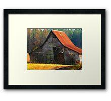 Charming Rural Barn Framed Print
