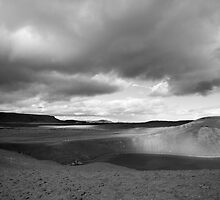 Viti Eruption Crater, Krafla, Mývatn, Iceland - Black & White by hinomaru