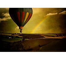 Rainbow Balloon Photographic Print