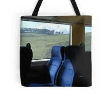 View from a speeding train Tote Bag