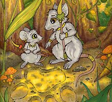 Hunting Lessons - Tribal Mice in the Jungle by CGafford