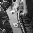 Skateboarding. Black and White. by Harley Amerio-Cox