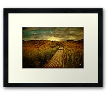 the way Framed Print