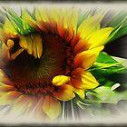 Sunflower With Rays by Darlene Bayne