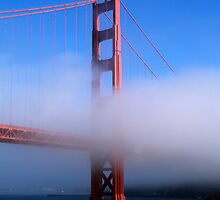 A Foggy Golden Gate Bridge by saxonfenken
