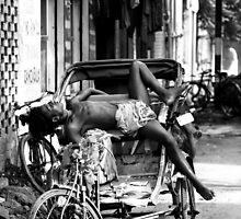 Rickshaw Break by Adnane Mouhyi