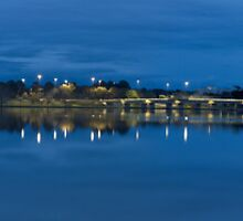 Pre-dawn Panorama, Lake Burley Griffin, Canberra ACT by DespinaT