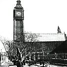 London Big Ben in Black and White by DavidGutierrez