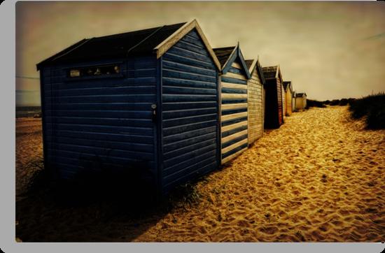 Beach Huts  by Karen  Betts