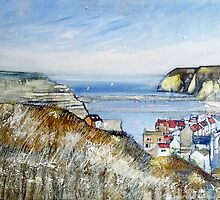 Staithes Fishing Village by Sue Nichol
