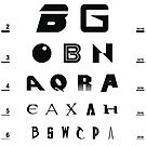 Sci-Fi Eye Chart by SevenHundred