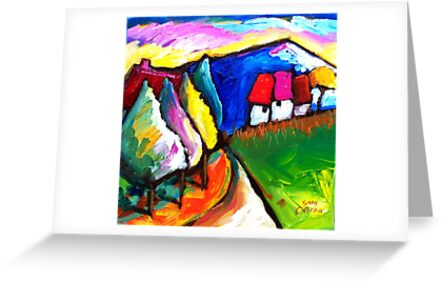 HOUSES  IN  UMBRIA - ITALY   by ART PRINTS ONLINE         by artist SARA  CATENA