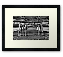 Henley Beach Jetty At Night Framed Print