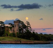 Fota Castle and the Moon by Robert Karreman
