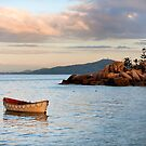 Lifeboat on the point by Michael Howard