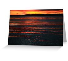 rippling light. sunrise - tasmania Greeting Card