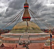 Boudhanath Panorama by Thomas Cox
