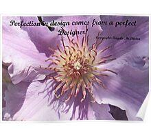 Clematis inspirational card Poster