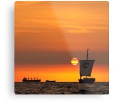 Sail into the sunset... Metal Print