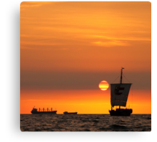Sail into the sunset... Canvas Print