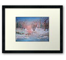 Cold Sunset Framed Print