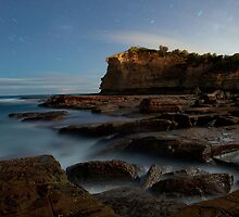 The Skillion, Terrigal, Central Coast, Night Photography - Star Trails by Leanne Doroszuk