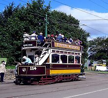 Old Tram at Beamish Museum by Trevor Kersley