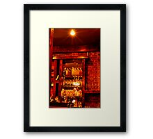 Sims Corner Steakhouse & Oyster Bar Framed Print