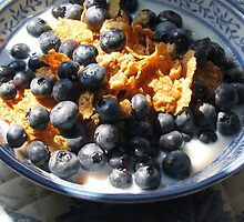 CEREAL WITH FRESH BLUEBERRIES by Joan Harrison
