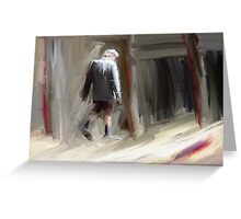Crazy man in London Greeting Card
