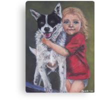 Girl's Best Friend Canvas Print