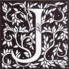 "Art Nouveau ""J"" (William Morris Inspired) by Donna Huntriss"