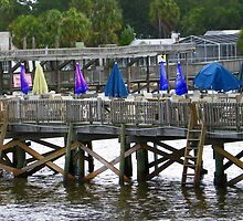 The Umbrellas of Cedar Key by Judy Wanamaker